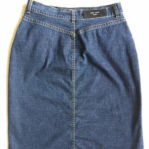 MaxMara Skirts - 🖤 MAXMARA DENIM SPLIT FRONT SKIRT SIZE 6 🖤